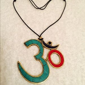 Jewelry - Om symbol pendent necklace adjustable wax code